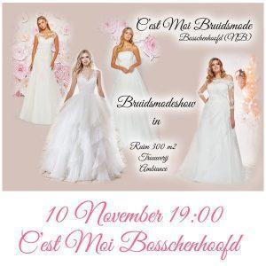 Bruidsmodeshow 10 november 2020 om 19:00 uur